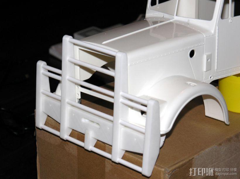 卡车保险杠 3D打印模型渲染图