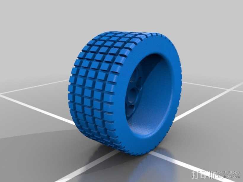 遥控赛车轮胎 3D打印模型渲染图