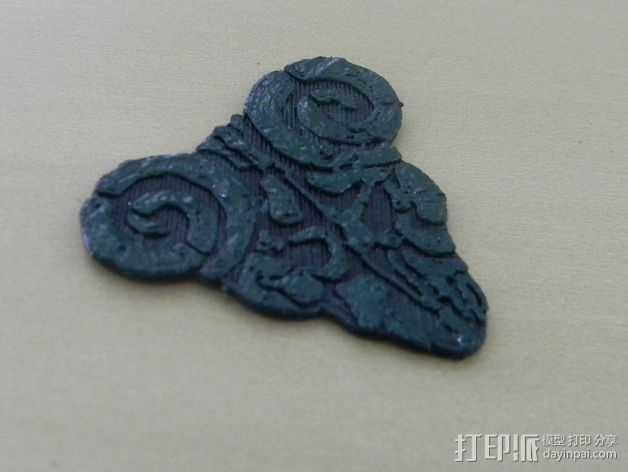 电影《摇滚之神》标志 3D打印模型渲染图