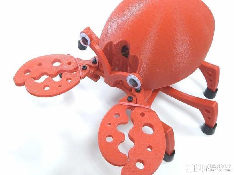 PrintBot螃蟹机器人 3D打印模型渲染图