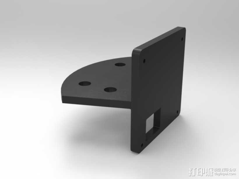 FPV250四轴飞行器 相机支架 3D打印模型渲染图