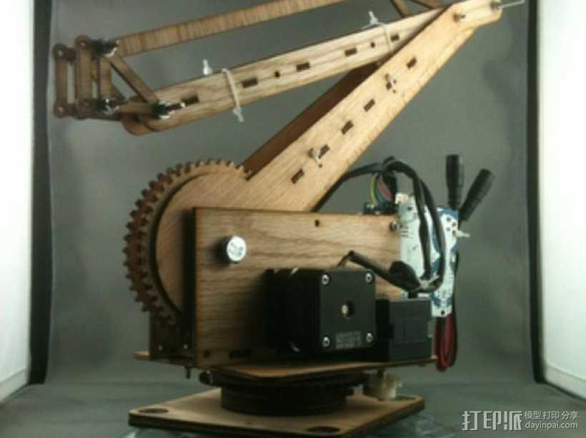 激光切割的码垛机器人 3D打印模型渲染图