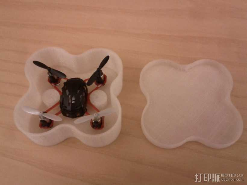Estes Proto X迷你四轴飞行器 存放盒 3D打印模型渲染图