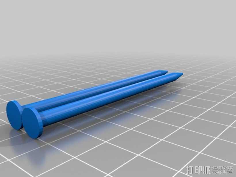 定制化编织针 3D打印模型渲染图