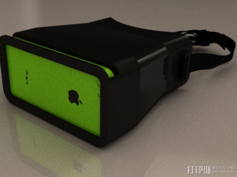 iPhone立体镜 3D打印模型渲染图