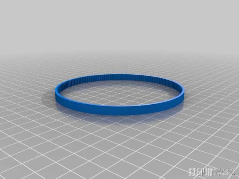 GT2正时皮带 3D打印模型渲染图