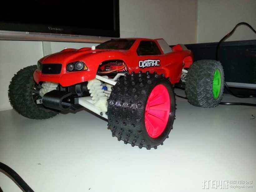 越野卡车轮胎 3D打印模型渲染图