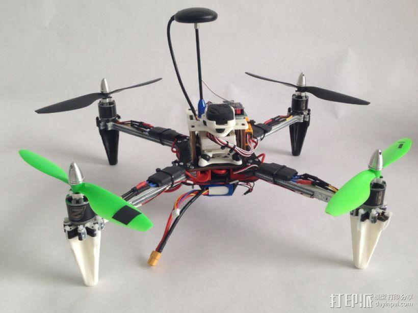 四轴飞行器框架 3D打印模型渲染图
