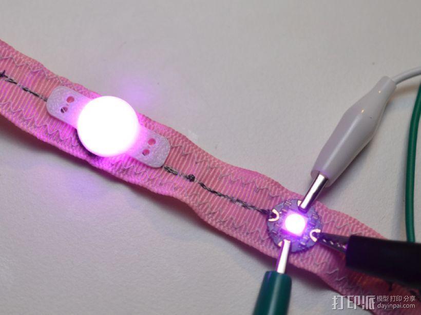 LED照明彩条盖帽 3D打印模型渲染图