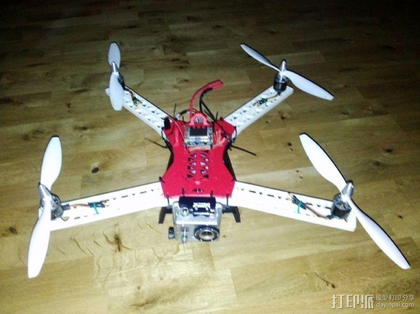 """""""无畏号""""四轴飞行器 3D打印模型渲染图"""