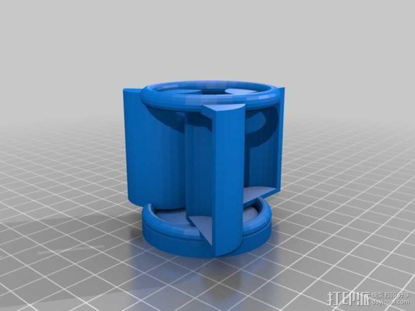 垂直风力涡轮机 3D打印模型渲染图