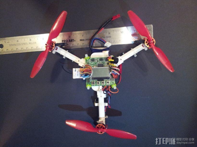 迷你三轴飞行器 3D打印模型渲染图