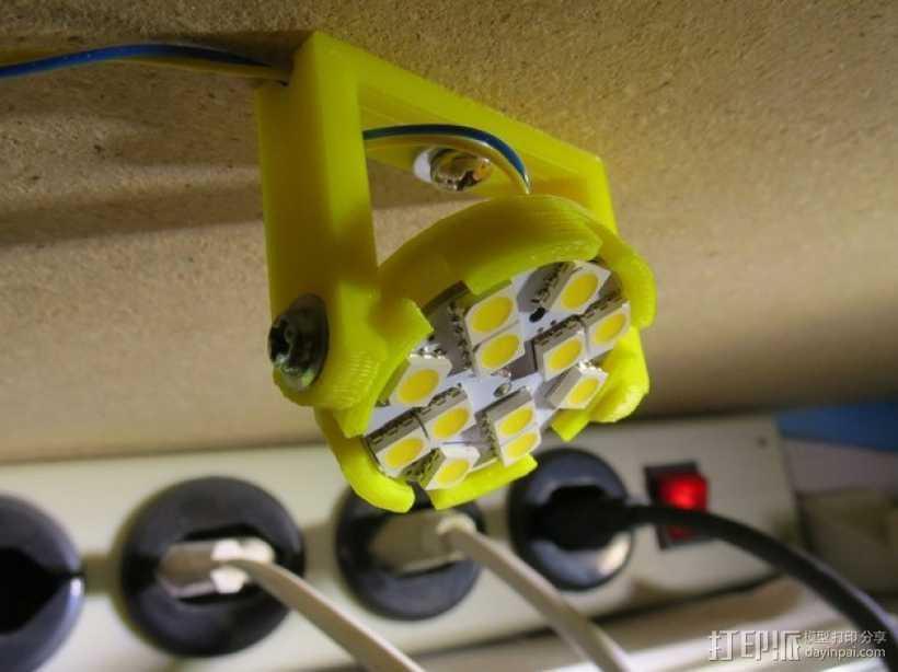 LED照明灯 支架 3D打印模型渲染图