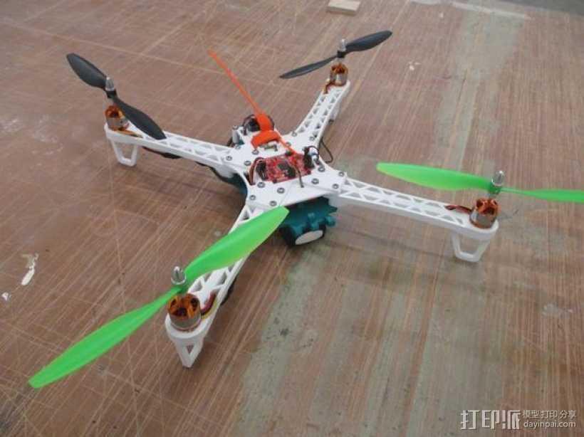"""""""鸽子""""四轴飞行器 3D打印模型渲染图"""