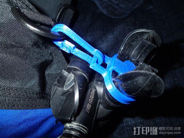 潜水调节器固定夹 3D打印模型渲染图