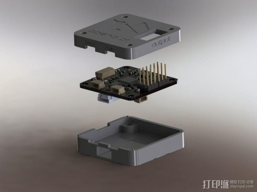 OpenPilot CC3D电路板外壳 3D打印模型渲染图