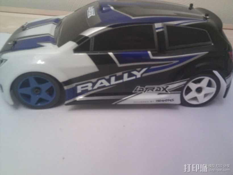 Latrax Rally遥控赛车漂移轮胎 3D打印模型渲染图