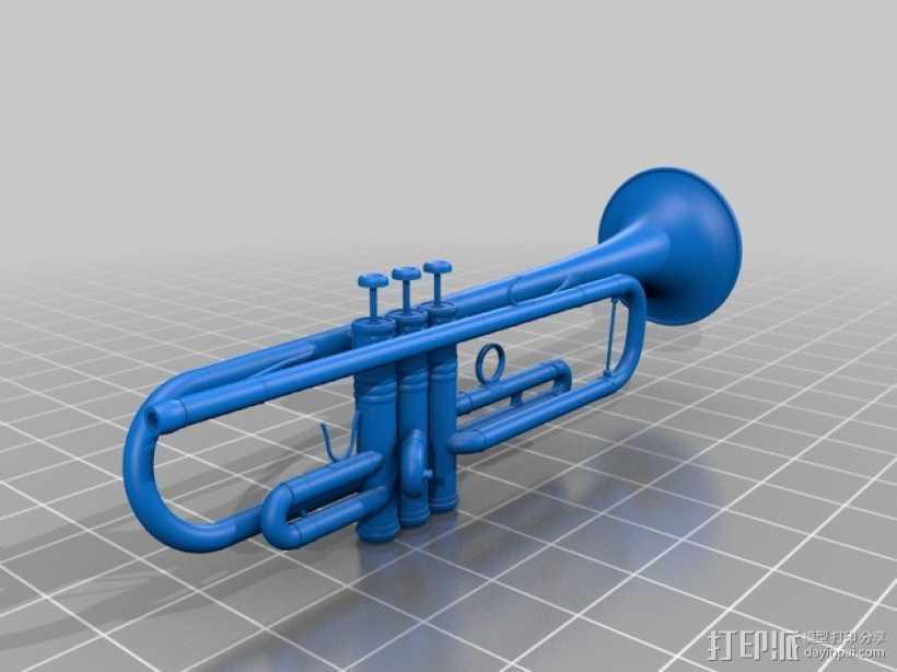 小号 3D打印模型渲染图