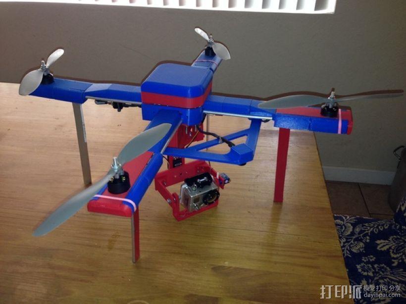 无人机 四轴飞行器 3D打印模型渲染图