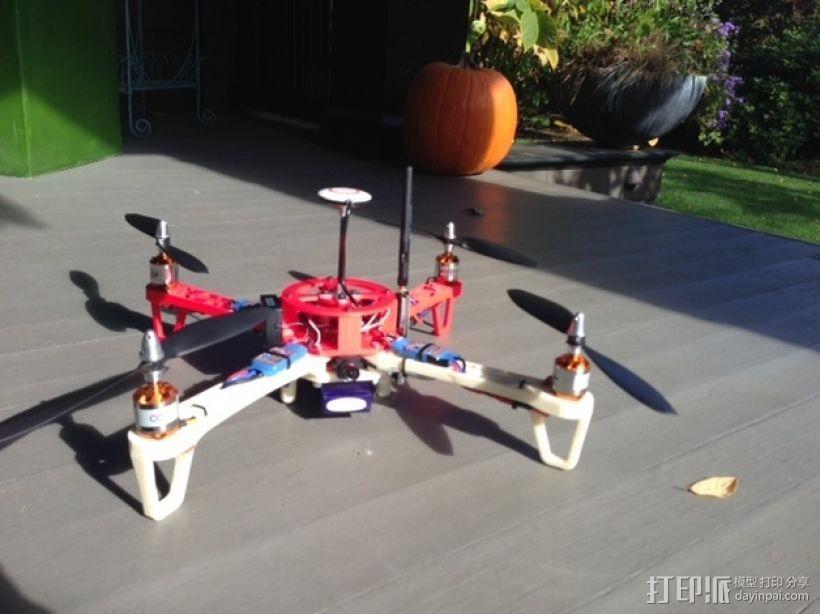 Crossfire四轴飞行器 3D打印模型渲染图