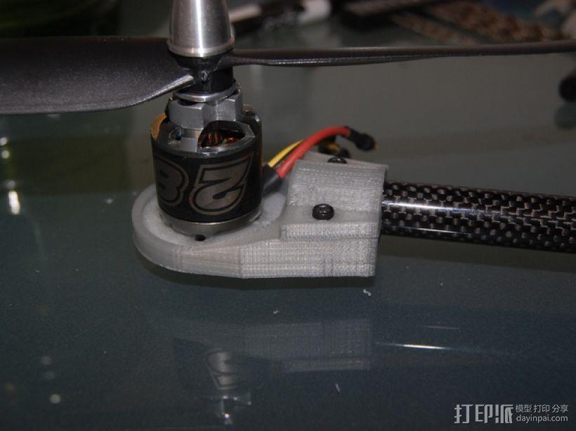 Turnigy Talon四轴飞行器 发动机架  3D打印模型渲染图