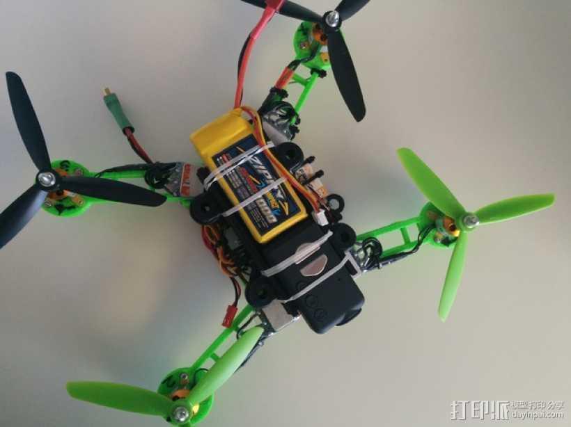 """""""蚱蜢号""""迷你四轴飞行器 3D打印模型渲染图"""