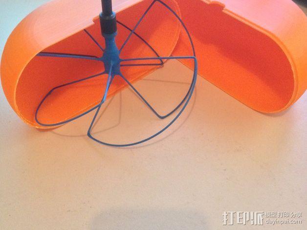 1.3ghz天线保护套 3D打印模型渲染图