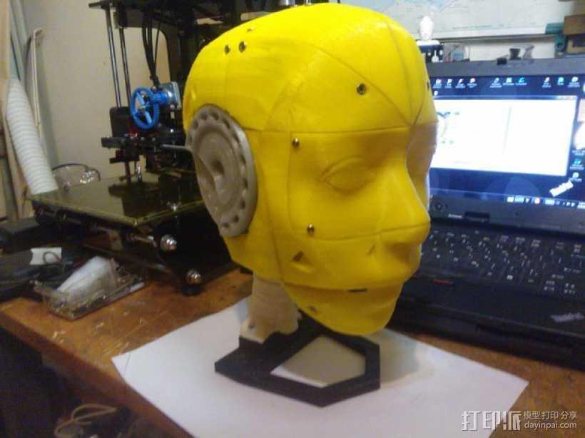 Inmoov机器人头部 3D打印模型渲染图