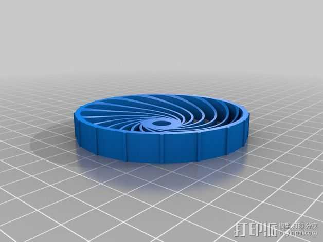 参数化螺旋轮胎 3D打印模型渲染图