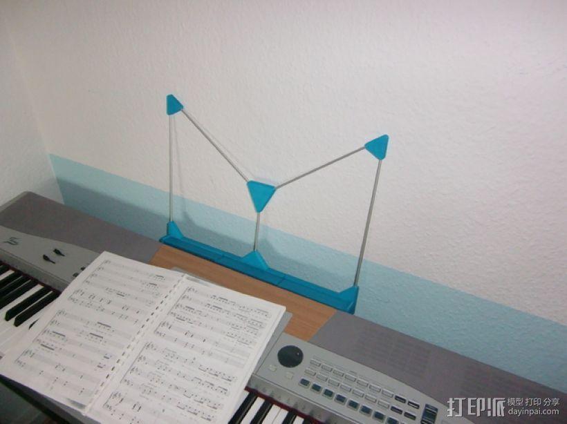 定制化乐谱架 3D打印模型渲染图