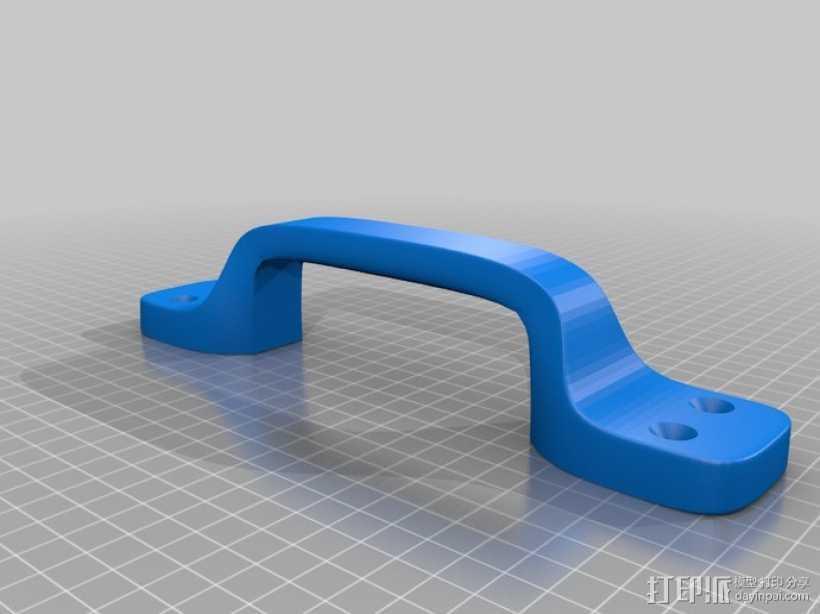 重型门手柄  3D打印模型渲染图