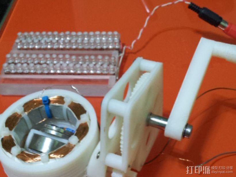 交流发电机 3D打印模型渲染图