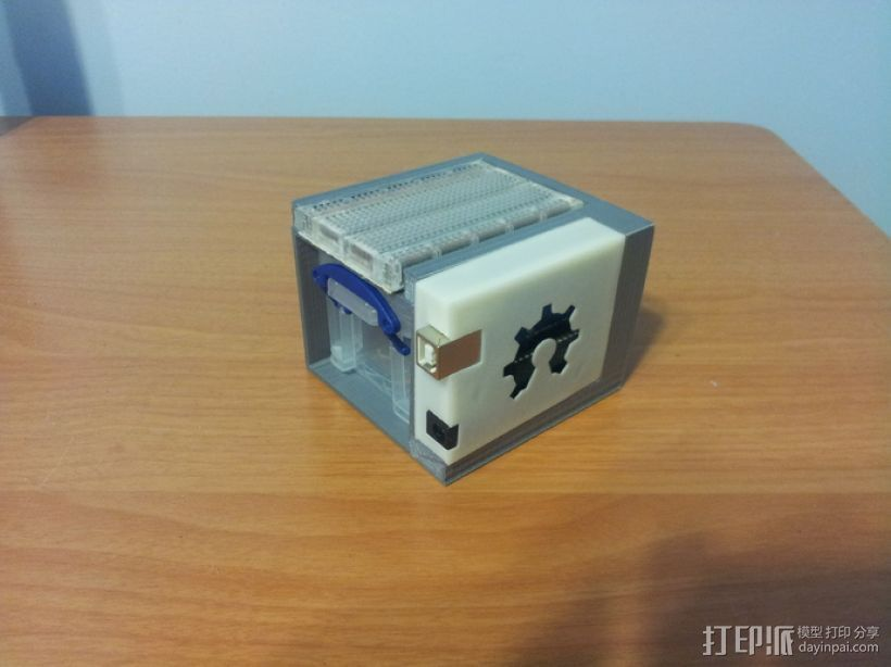 Arduino Uno电路板 小盒 3D打印模型渲染图
