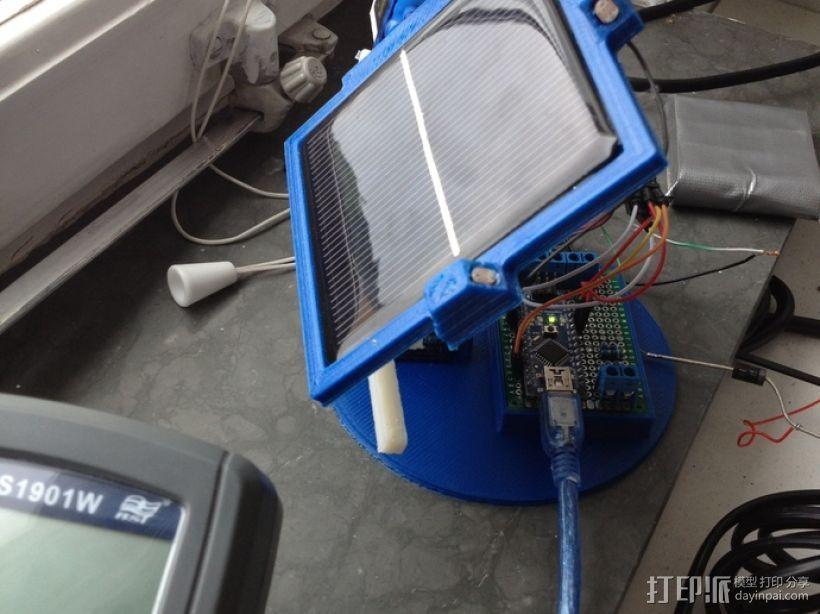太阳能电池板 3D打印模型渲染图