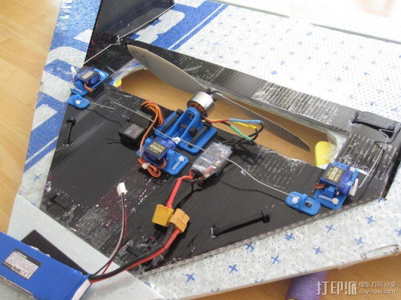 遥控飞机零部件 3D打印模型渲染图