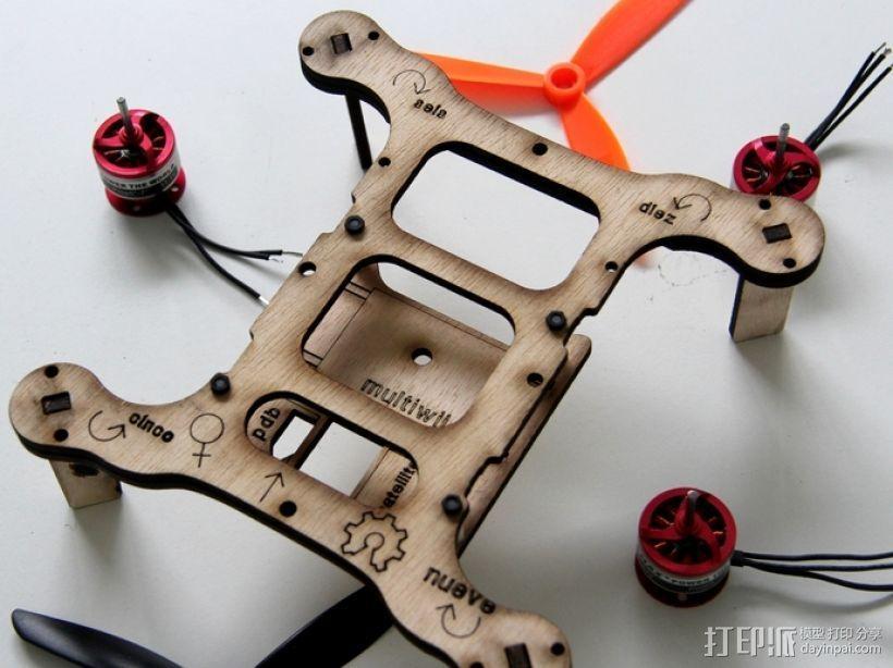 Flone四轴飞行器底板 3D打印模型渲染图