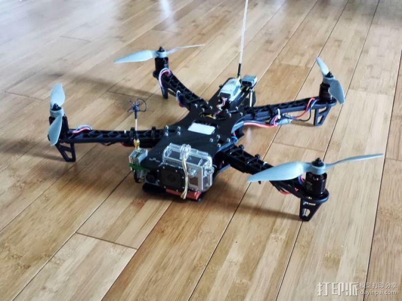 四轴飞行器延长板 3D打印模型渲染图