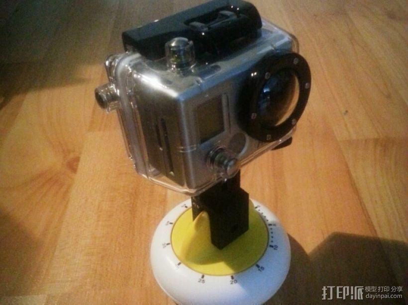 GoPro定时器支架 3D打印模型渲染图