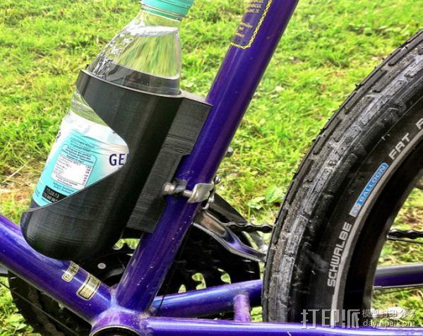 自行车 水瓶架 3D打印模型渲染图