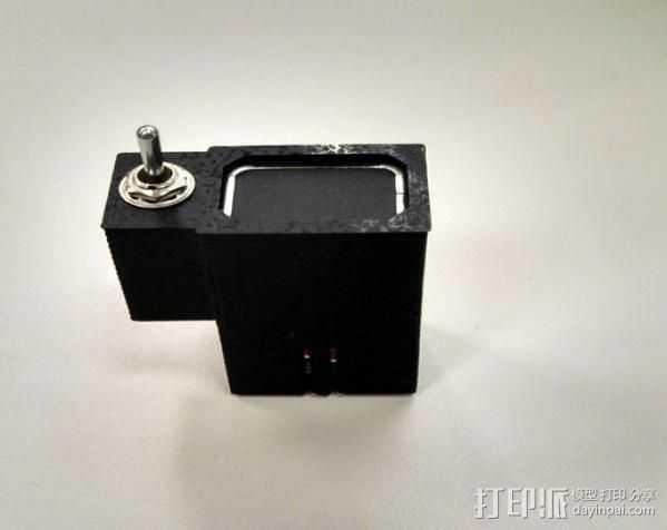 拨动开关 电池盒 3D打印模型渲染图
