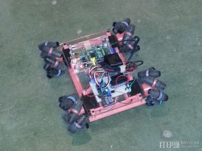 麦克纳姆轮 机器人 3D打印模型渲染图