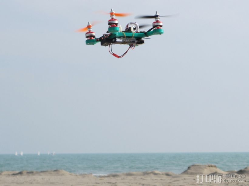 迷你四轴飞行器 3D打印模型渲染图
