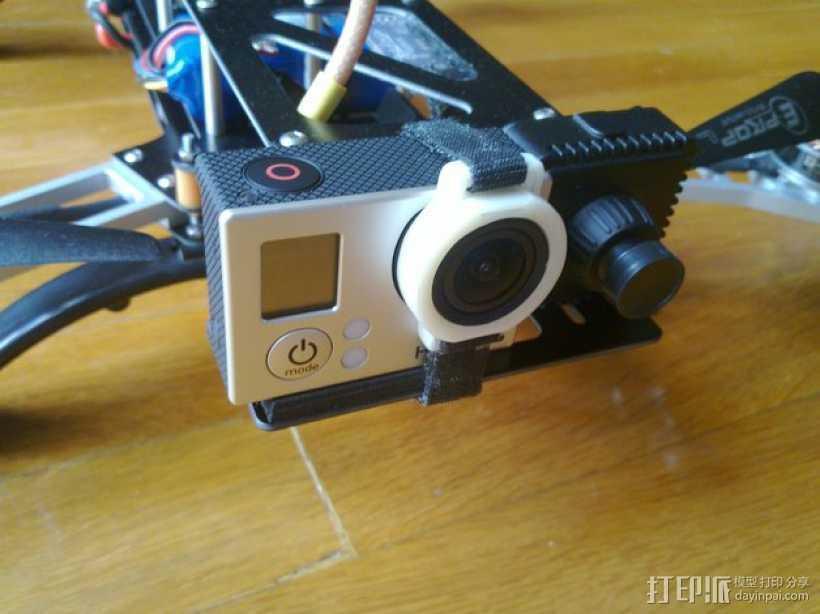 GoPro Hero 3相机镜头保护架 3D打印模型渲染图