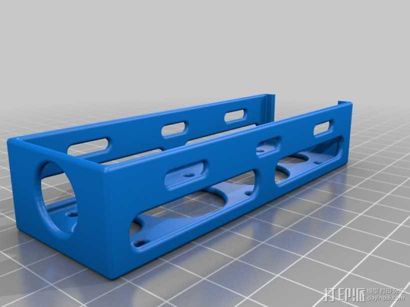电池托盘 3D打印模型渲染图