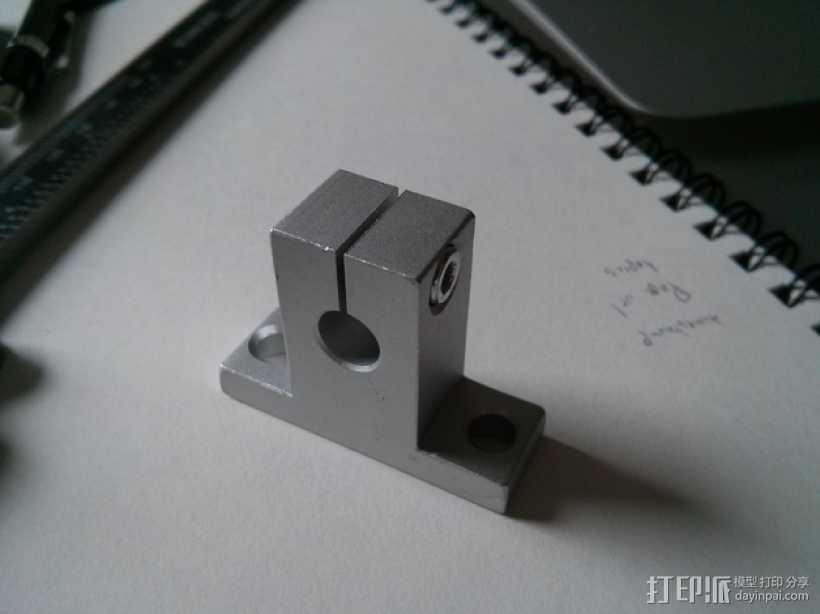 线性承轴支撑装置 3D打印模型渲染图