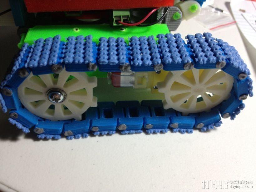坦克机器人履带引导装置 3D打印模型渲染图
