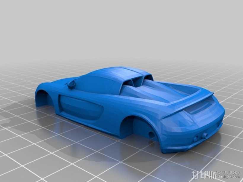 保时捷卡雷拉车身 3D打印模型渲染图