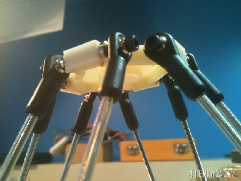 Delta机器人 3D打印模型渲染图