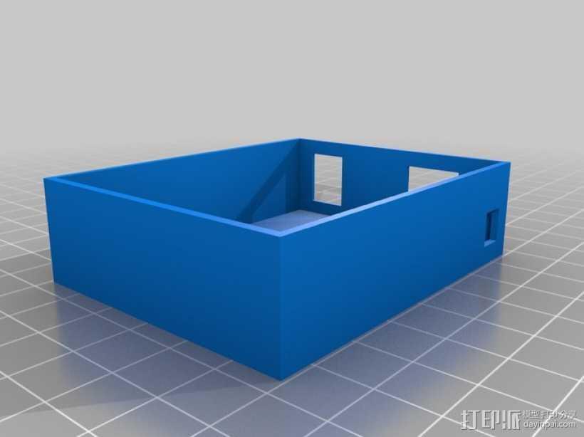 Arduino Uno电路板 托盘 3D打印模型渲染图