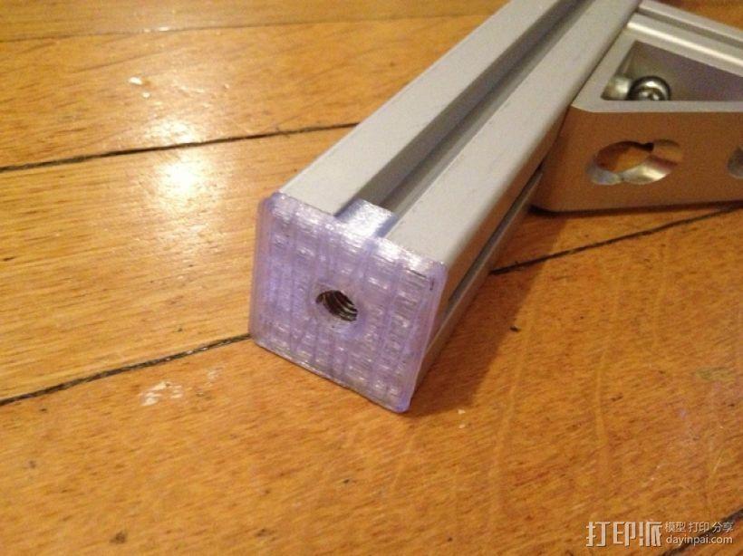 管端盖板 后盖 3D打印模型渲染图